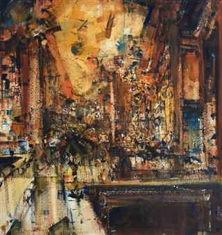 Alejandro Miras - Interior Watercolor, Paintings