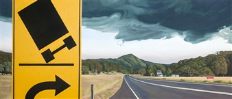 Sandra Guy - Reduce Speed Oil on Linen, Paintings