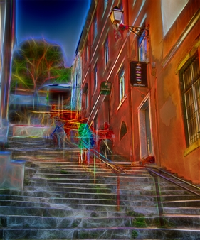 Howard Harris - Colorida Steps Digital Sublimation Print on Aluminum, Photography