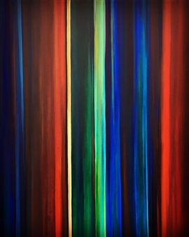 Rebecca Stenn - Color Study During a Pandemic #2 Acrylic on Canvas, Paintings