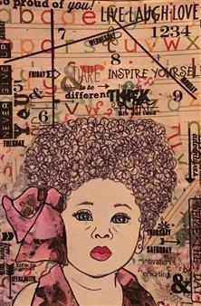 Sydnei SmithJordan - Paper Doll Mixed Media on Paper, Mixed Media