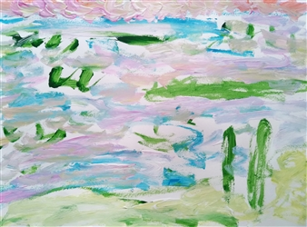 Yu He - Untitled 7 Acrylic on Paper, Paintings