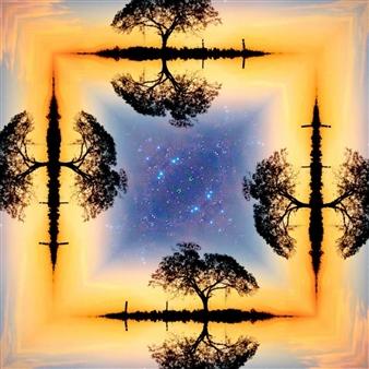 Hanan Levi - Tree of Life Digital Print on Canvas, Digital Art