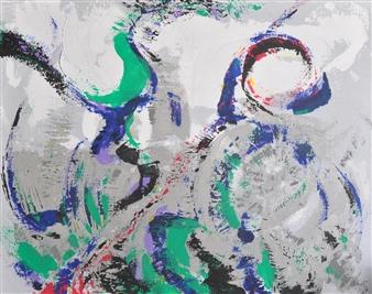 Barbara Wykrota - Plus Vite Acrylic on Canvas, Paintings