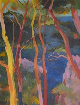 Eric Raffy - Arbres 1 Acrylic on Canvas, Paintings