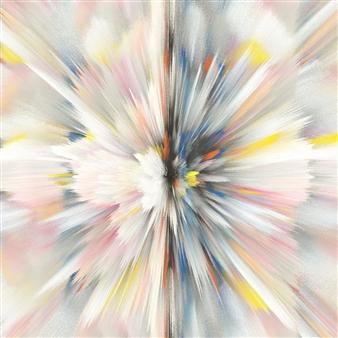 Alex Osborne - Nucleus Digital Painting on Aluminum, Digital Art