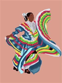 Vanessa Gonzalez - Danza Tapatia #1 Digital Illustration