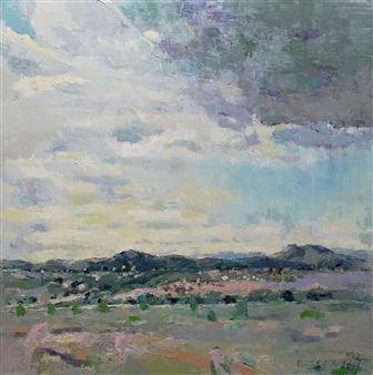 Becky Sungja Kim - Greeting Santa Fe Oil on Linen, Paintings