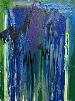 Tyler Santangelo - Trespassing Acrylic & Spraypaint on Canvas, Paintings