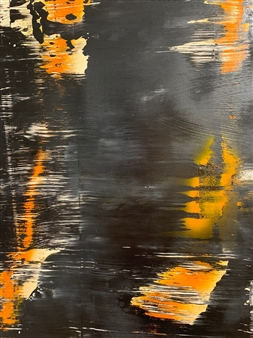 Ulrich T. Grabowski - Back to Black Acrylic on Canvas, Paintings