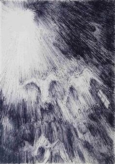 Oleg Kirnos - Upward Flow to the Light Pen on Paper, Drawings
