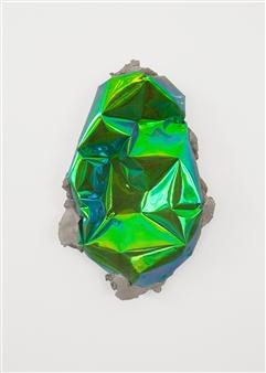 Mateusz von Motz - Prima Materia Energy Stone, Green Mixed Media, Sculpture