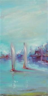 Arttiana - Laguna Oil on Canvas, Paintings