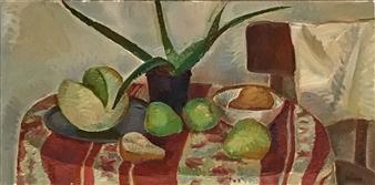 Hana Vater - Still Life with Aloe_2 Oil on Canvas, Paintings