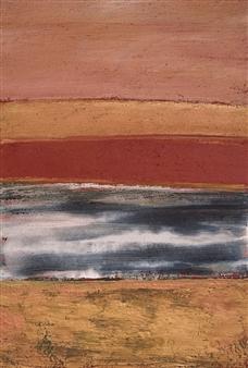 Israel Feldmann - Desert Gold 2 Pigment on Canvas, Paintings