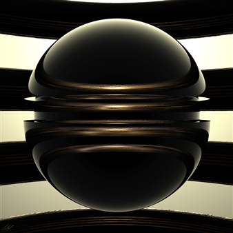 Michai Morin - Nucleon 1a - UHD Print on Acrylic Glass Panel, Digital Art