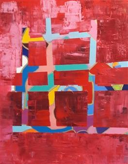 Claudia Mini - The Beginning Acrylic on Canvas, Paintings