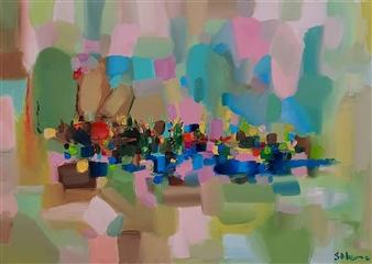Salome Chelidze - City Oil on Canvas, Paintings