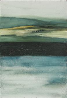 Israel Feldmann - The Promised Land Pigment on Canvas, Paintings