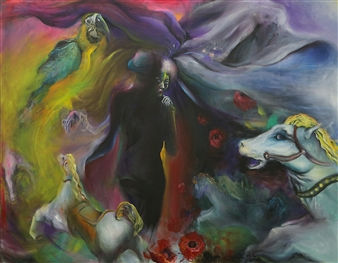 YoungHee Woo - Affection, the Carousel of the Dream Oil on Canvas, Paintings