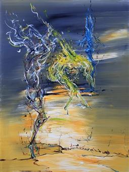 Jian Jun An - Dancing 1 Acrylic on Canvas, Paintings