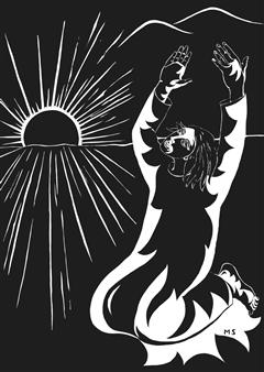 Marliese Scheller - Coucher de Soleil Ink on Paper, Drawings