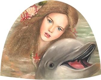 Rosana Largo Rodríguez - My Friend Oil on Canvas of Wood, Bell Shape, Paintings