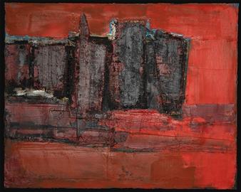 Ludwig Mannhalter - No. 15 Oil & Mixed Media on Canvas, Mixed Media