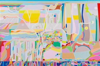 Ai-Wen Wu Kratz - Upon Far and Near Acrylic on Canvas, Paintings
