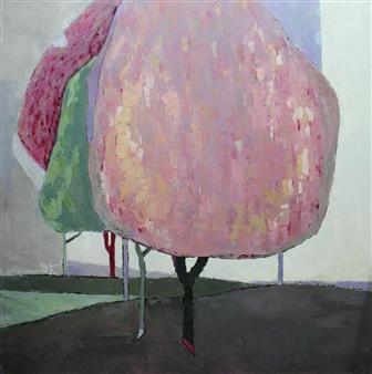 Becky Sungja Kim - OPL 1725 Oil on Canvas, Paintings