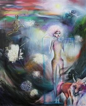 YoungHee Woo - Das Glasperlenspiel Oil on Canvas, Paintings