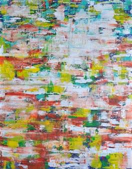 Barbara Wykrota - La Promenade 1 Acrylic on Canvas, Paintings