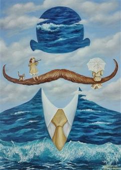 Helena Zyryanova - Keep Calm Oil on Canvas, Paintings