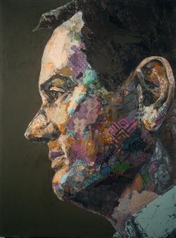 Jihyun Ra - My Greek Friend Acrylic on Canvas, Paintings