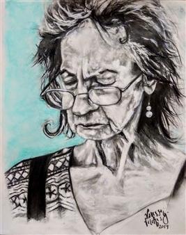 Vanessa Vilchis - Vecchiaia Europea Charcoal, Pencil, Pastel & Acrylic on Paper, Drawings