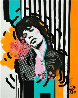 Nancy Landauer - Shattered Mixed Media on Canvas, Mixed Media