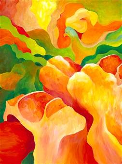 Jerry Anderson - Cappadocia 7 Animal Fantasy Acrylic on Canvas, Paintings