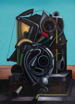 Pedro Vargas - Machine to Make Dreams Oil on Canvas, Paintings