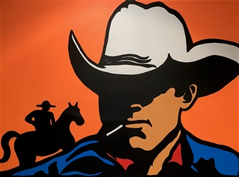 Gianpiero Palermo - Cowboy Acrylic on Canvas, Paintings