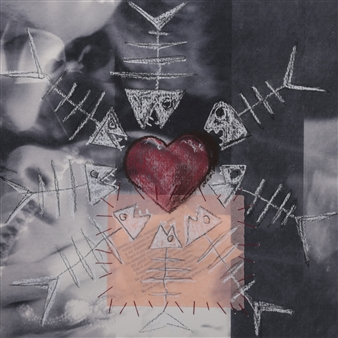 Roberto Riccio - heART of Woman Acrylic & Mixed Media on Paper, Mixed Media