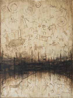 Madina Pavlyuk - Primeval Beast Oil on Canvas, Paintings