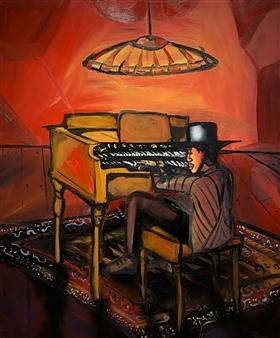 Erik Neimeijer - Hammond Soul Acrylic & Airbrush on Linen, Paintings