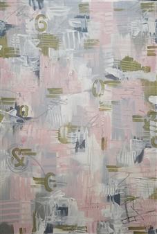 Nancy Landauer - Speaking Softly Acrylic & Oil Pastel on Canvas, Paintings