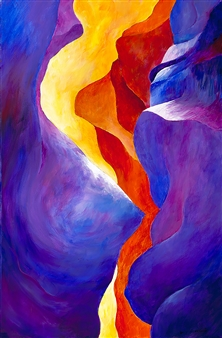 Jerry Anderson - Antelope Canyon 2 Acrylic on Canvas, Paintings