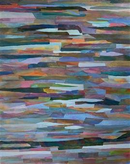 Ellen Globokar - Crossroad Blues Collage on Canvas, Mixed Media