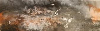 Anders Ekelund - Seabirds Acrylic & Oil on Canvas, Paintings