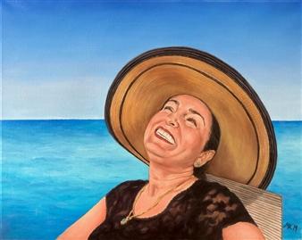 Mehrnosh Kaecker - Happiness Oil on Canvas, Paintings