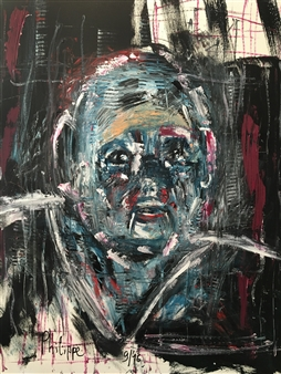 Philippe Thélin - Selfie VI Acrylic on Canvas, Paintings