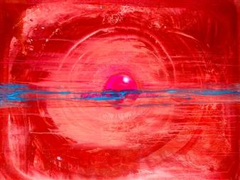 PJ Riley - CREATION THEORY: Birth of an IDEA Acrylic & Spraypaint on Canvas, Paintings