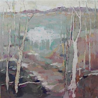 Becky Sungja Kim - Winter Song Oil on Linen, Paintings
